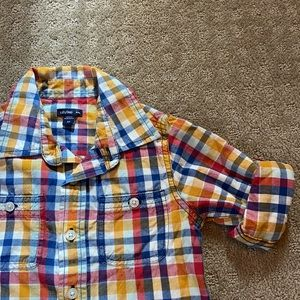 Baby gap boys checkered shirt